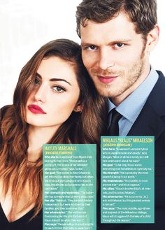 Phoebe Tonkin and Joseph Morgan about their roles as Hayley and Klaus.