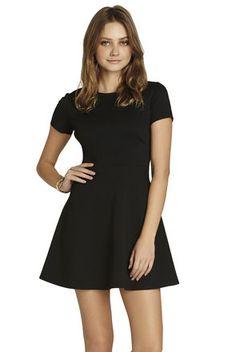 Cap-Sleeve Dress - every girl needs a little black dress:)
