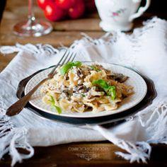 Makaron w sosie mascarpone, z mięsem mielonym i pieczarkami | Ósmy kolor tęczy - Blog kulinarny