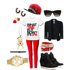 """""""What time is it?"""" by chichi23 on Polyvore"""