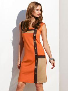 60s Mod Fashion, Frock Fashion, Fashion Dresses, Casual Dresses, Short Dresses, Frock For Women, Betty Barclay, Pinterest Fashion, Colorblock Dress