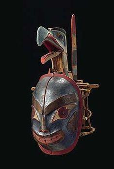 The Northwest Coastal People - Transformation mask (closed), Haida Gwaii (Canada), 19th century
