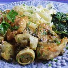 Chicken Piccata with Artichoke Hearts Allrecipes.com