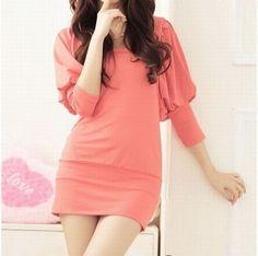 Amazon.co.jp: ボリューム袖 シンプルロングTシャツ レディースファッション (XXXL): 服&ファッション小物通販