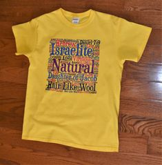 Hair Like Wool Yellow Tee by 815SunsetPark on Etsy