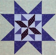 Sawtooth Star quilt block with Diamond Star center