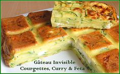 """Gâteau """"invisible"""" Courgette, Curry & Feta"""