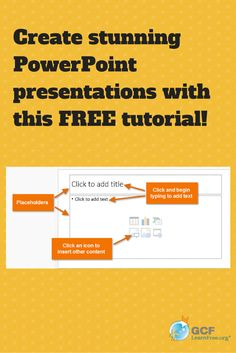 #PowerPoint 2013 is a presentation program in the new Microsoft 2013 Office suite that allows you to create amazing slide presentations that can integrate images, video, narration, charts, and more. Learn how to use it with this free tutorial from GCFLearnFree.org.