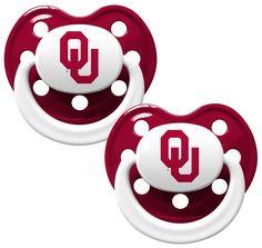 Oklahoma Sooners Pacifier - 2 Pack