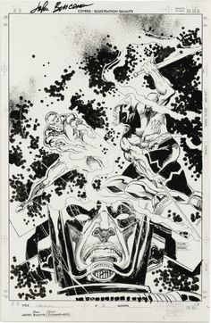 travisellisor:  the cover to Galactus The Devourer #2 by John Buscema and Bill Sienkiewicz