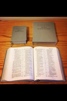 The first picture of the large print bibles.