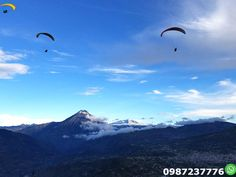 Paragliding Baños Ecuador Come and fly paragliding for 12 to 15 minutes and enjoy this adventure sport and experience with certified instructors.