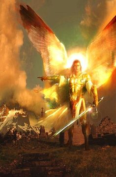The Archangels oversee and guide Guardian Angels who are with us on earth. The most widely known Archangel Gabriel, Michael, Raphael, and Uriel. Angels Among Us, Angels And Demons, Real Angels, Angel Protector, Warrior Angel, I Believe In Angels, Ange Demon, Angels In Heaven, Heavenly Angels