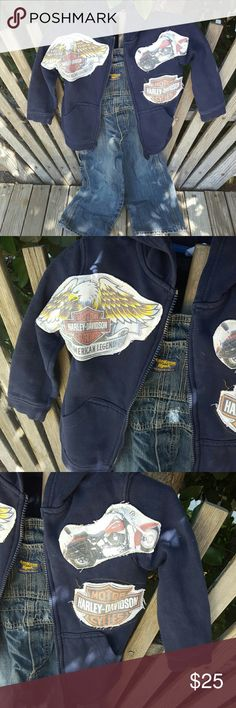 Boys Zip Hoodie with Harley Davidson Patches Boys Zip Hoodie with Harley Davidson Patches . Really super cool for a really super cool 4 year old boy with hip parents ... Shirts & Tops Sweatshirts & Hoodies