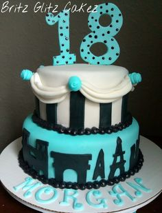 aqua paris theme cake