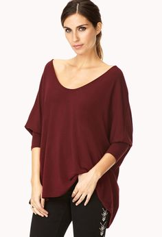 Minimalist Boxy Top | FOREVER21 Less is more in this boxy top #ForeverHoliday #MustHave #Burgundy