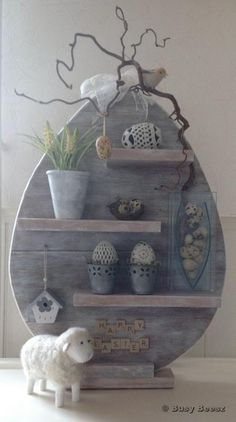 Gorgeous Grey Easter Display