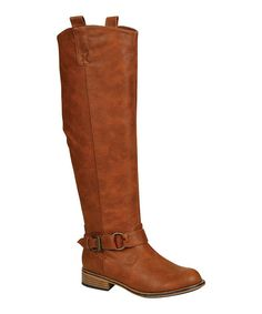 Tall chestnut riding boots