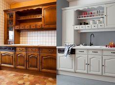 DECORATION : peindre ses meubles de cuisine pour un relooking économiquement avantageux. CONSEIL : choisir deux tons (clair et foncé) pour créer une cuisine bicolore.