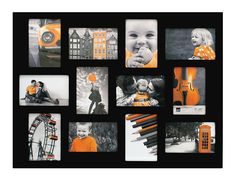 Kiera Grace Wood Napa Collage Picture Frame, 18 by 24-Inch, Holds 12 Photos, Black ** You can find more details by visiting the image link. (This is an affiliate link) #PictureFrames