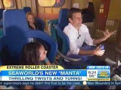 SeaWorld San Diego's new Manta Roller Coaster on Good Morning America