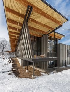 Eastman Nature Center, by Meyer, Scherer & Rockcastle, in winter. Photo by Paul Crosby.