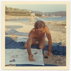 Pier Paolo Pasolini, photographed by Maria Callas, on holiday in Skorpios, Greece, 1969. #Pasolini #Callas #Greece