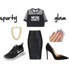 """""""sporty or glam?"""" by montsyxikita on Polyvore"""