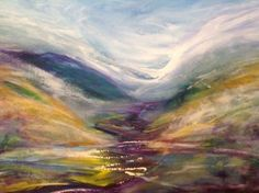 "Saatchi Art Artist Jane Mackenzie; Painting, ""And let the mist rise"" #art"