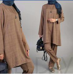 Hijab Office, Duster Coat, Kimono Top, Normcore, Jackets, Tops, Women, Style, Fashion