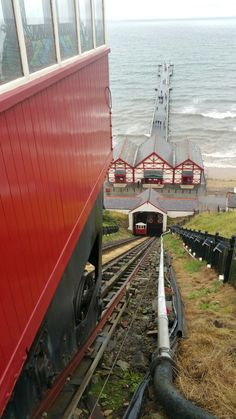 Saltburn by the Sea. Funicular cliff lift. East Yorkshire. The most fun you can have for a quid.
