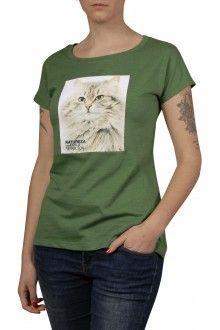 Comprar Camiseta Algodão Básica Gato Dourado