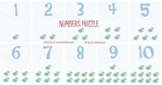 NUMBERS - #FLASH #CARD AND PUZZLE FREE PRINTABLES / #PRESCHOOL
