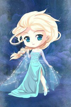 Chibi Elsa by artist? ||| Disney, Frozen, queen, princess