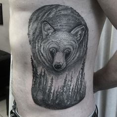 #beartattoo #bear #grizzlybear #foresttattoo #dotwork #blackwork #blackngrey #blacktattoo #blxckink #dotworktattoo #dots #animaltattoo