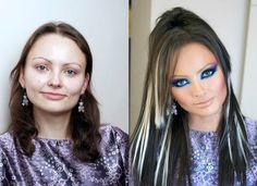 makeup transformation 7 A bit of a difference (11 photos)