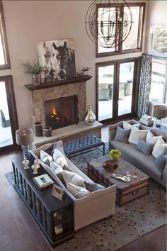 Große Wohnzimmer Design Idee 2