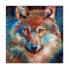 Trademark Fine Art 'Timber Wolf Abstract' Canvas Art by Marcia Baldwin