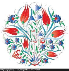 oriental ottoman design isolated
