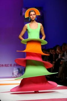 Traffic Cone Chic - Agatha Ruiz De La Prada at Milan Fashion Week Spring/Summer 2009 The 40-somethings ladies wax nostalgic for Saturday Night Live classics like the Coneheads, but this is something Prymatt wouldn't even wear on Remulak.