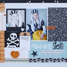 Bella Blvd. Trick or Treat. Frankiestein layout by DT Member Jamie Harder