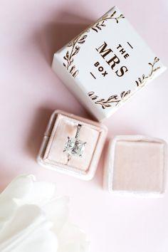 the-mrs-box-pink-velvet-ring-box http://itgirlweddings.com/wedding-weekend-in-mexico/