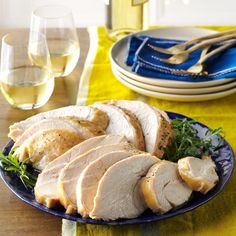 Moist & Tender Turkey Breast Recipe -Easy —Heidi Vawdrey, Riverton, Utah (Bakes in SLOW COOKER! OK to omit brown sugar for a more savory flavor. Easy Turkey Recipes, Crock Pot Recipes, Thanksgiving Recipes, Slow Cooker Recipes, Cooking Recipes, Cooking Games, Thanksgiving Turkey, Pork Recipes, Holiday Recipes