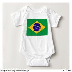 Flag of Brazil Baby Bodysuit