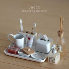 Miniature bathroom♡ ♡ By Sacco