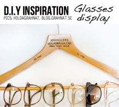 DIY Glasses display, can you already see how to keep your sunglasses from getting crushed in your bag, or forgotten because it's hidden in your drawers