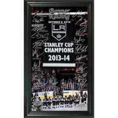 Los Angeles Kings 2014 SC Champions Banner Raising Ceremony Signature Framed Photo