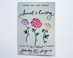 papercut wedding invite (weddings)