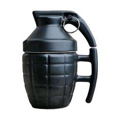 Grenade Ceramic Coffee / Tea Mug - Black / 201-300ml - Cool Stuff Go - 1