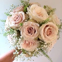 Blush bouquet  Quicksand roses
